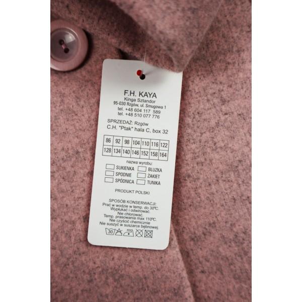Prochowiec płaszcz różowy 2