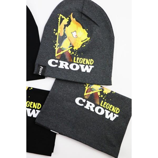 Komplet dla chłopca- czapka i komin Legend Crow 1