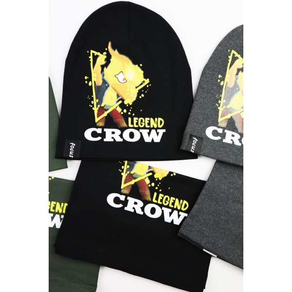 Komplet dla chłopca- czapka i komin Legend Crow 2