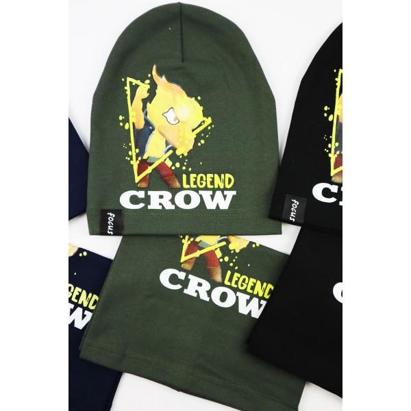 Komplet dla chłopca- czapka i komin Legend Crow 3