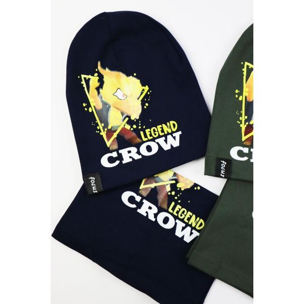 Komplet dla chłopca- czapka i komin Legend Crow 4