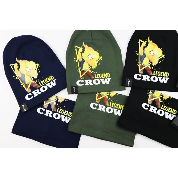 Komplet dla chłopca- czapka i komin Legend Crow 5