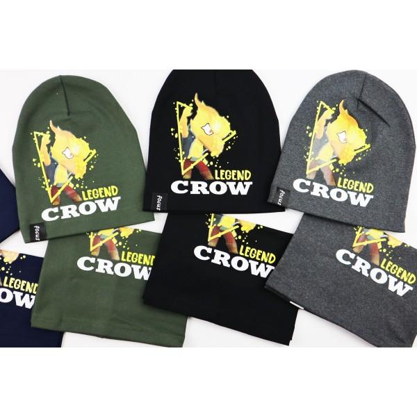 Komplet dla chłopca- czapka i komin Legend Crow 6