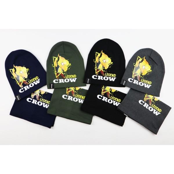 Komplet dla chłopca- czapka i komin Legend Crow 7