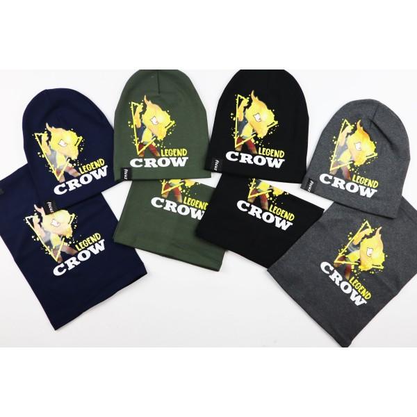 Komplet dla chłopca- czapka i komin Legend Crow 8