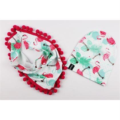 Komplet dla dziewczynki-czapka i szalik z pomponami 1