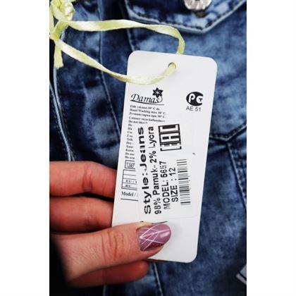 Kurtka jeansowa dla dziewczynki z dużą aplikacją z tyłu 4