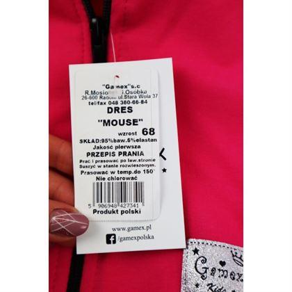 Dres dla dziewczynki Gamex- fuksjowa bluza i szare spodnie z kokardką 4