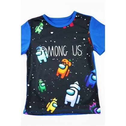 Szafirowy t-shirt unisex z grafikami na przodzie Among Us 1