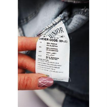Kurtka jeansowa dla dziewczynki z satynowymi różowymi rękawami 4