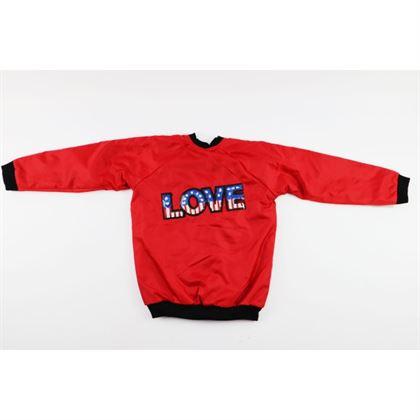 Czerwona bomberka z angielską flagą i napisem LOVE 2