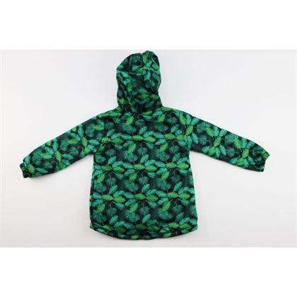 Kurtka wiosenna dla chłopca w zielone liście, ocieplana od wewnątrz 3