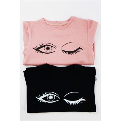 T-shirt dla dziewczynki mrugające oczko, do wyboru 2 kolory