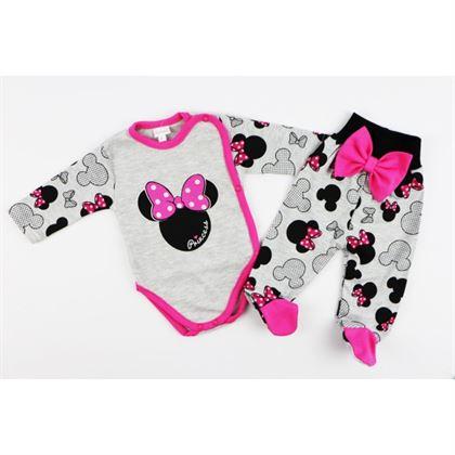 Komplet dla dziewczynki Gamex- body i spodnie szare MIKI