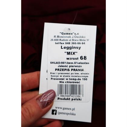 Spodnie dla dziewczynki z falbankami z tyłu Gamex- 4 kolory do wyboru