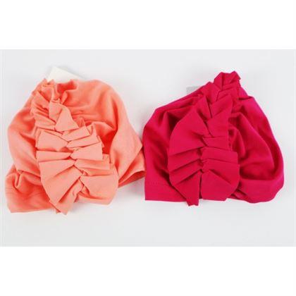Czapka dla dziewczynki Turban z falbanką- 2 kolory do wyboru