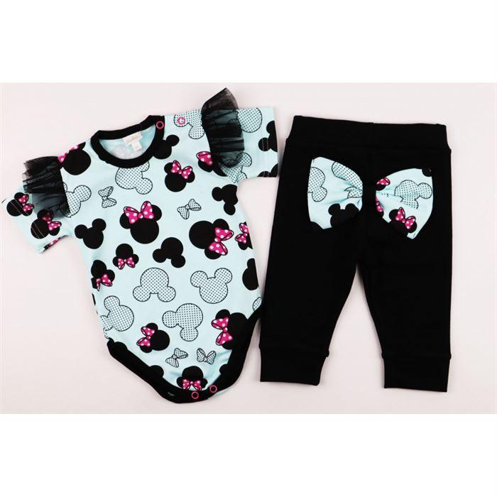 Komplet dla dziewczynki miętowy Gamex body i spodnie