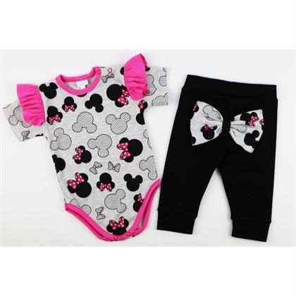 Komplet dla dziewczynki Gamex body i spodnie szare