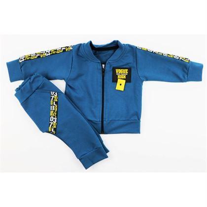 Komplet dresowy dla chłopca Gamex niebieski bluza spodnie
