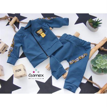 Komplet dresowy dla chłopca Gamex niebieski bluza spodnie-