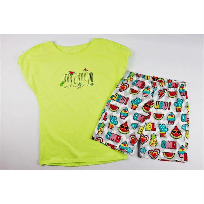 Neonowa piżamka dla dziewczynki WOW