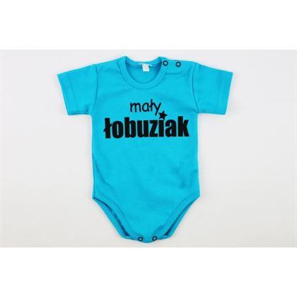 Body dla chłopca niebieskie Mały łobuziak
