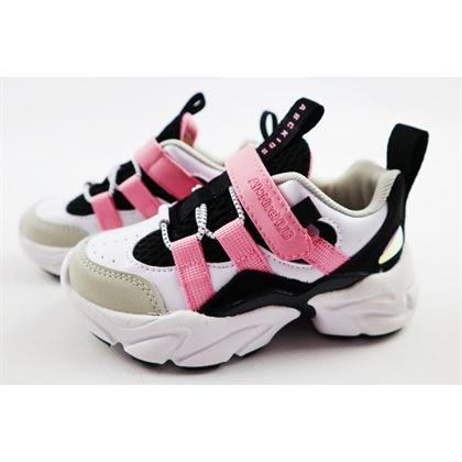 Sneakersy dziewczęce biało-różowe na grubej podeszwie