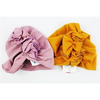 Turban dziewczęcy czapka z falbanką- 2 kolory do wyboru