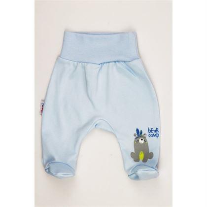 Półśpioch niemowlęcy niebieski dla chłopca z misiem