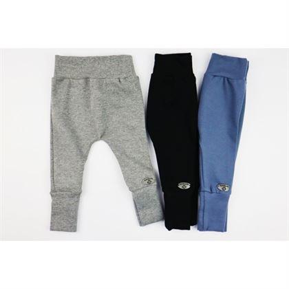 Spodnie baggy unisex z ozdobną naszywką- 3 kolory do wyboru