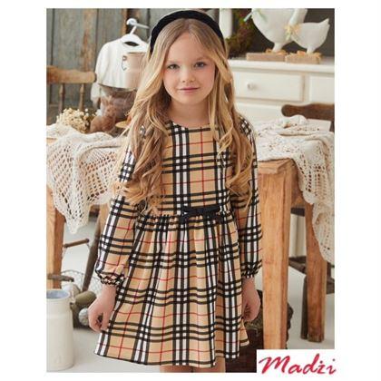 Sukienka dla dziewczynki w kratkę wzór Burberry