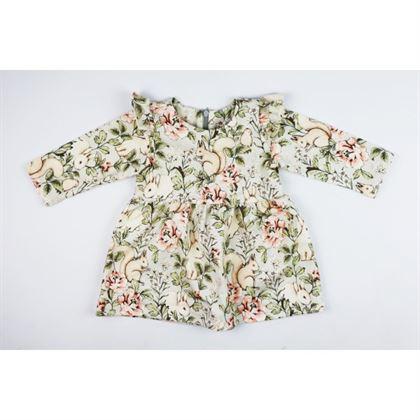 Miętowa sukienka dla dziewczynki w zajączki