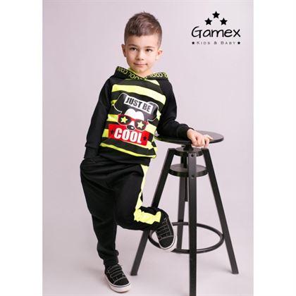 Komplet dresowy dla chłopca Gamex neonowo zielony