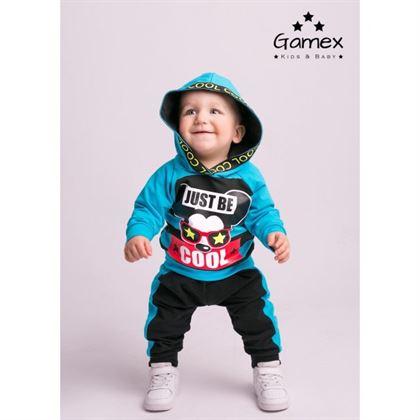 Komplet dresowy dla chłopca Gamex niebieska bluza i spodnie