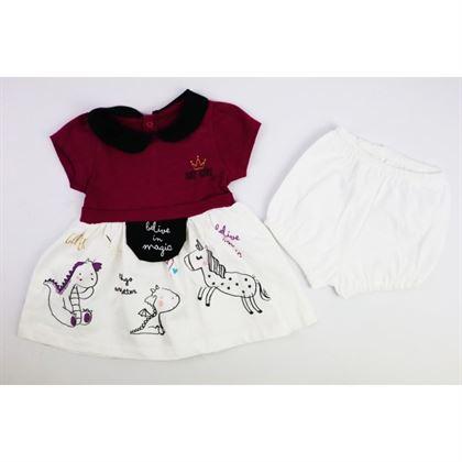 Sukienka z majteczkami dla dziewczynki Belive in Magic ze smokami