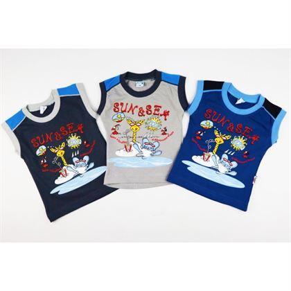 Bluzeczki bez rękawów dla chłopca SUN& SEA- 3 kolory do wyboru
