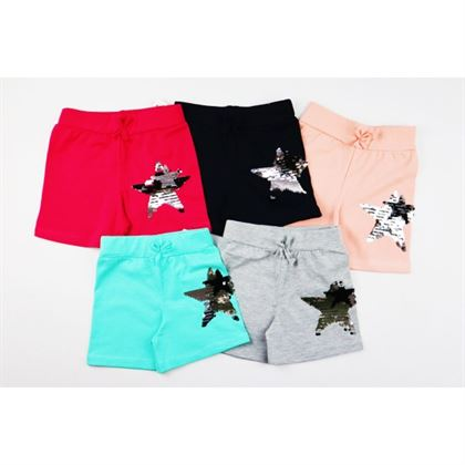 Spodenki dziewczęce z cekinową gwiazdką- dużo kolorów do wyboru