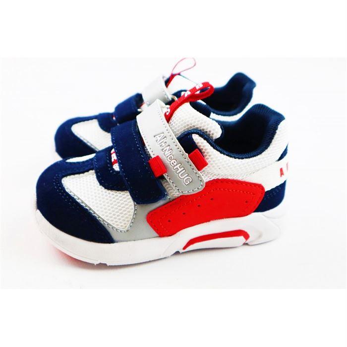 Sneakersy dla chłopca biało-czerwone