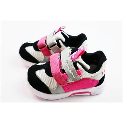 Sneakersy dziewczęce biało-różowe na rzepy
