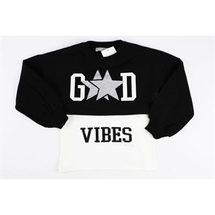 Komplet składający się z krótkiej bluzy dziewczęcej z koszulką Good Vives
