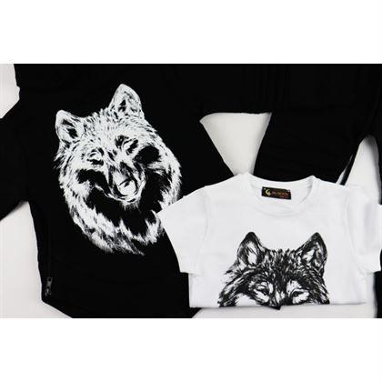 Komplet dla chłopca 3-częściowy Wilk bluza spodnie i t-shirt