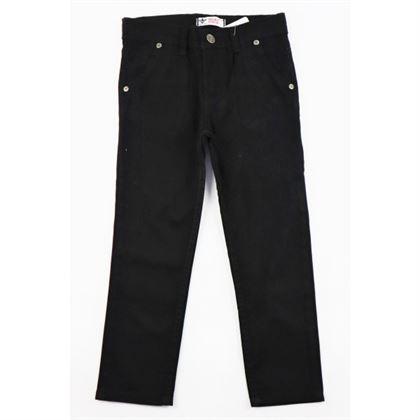 Czarne spodnie ponadczasowe z przypinką z tyłu