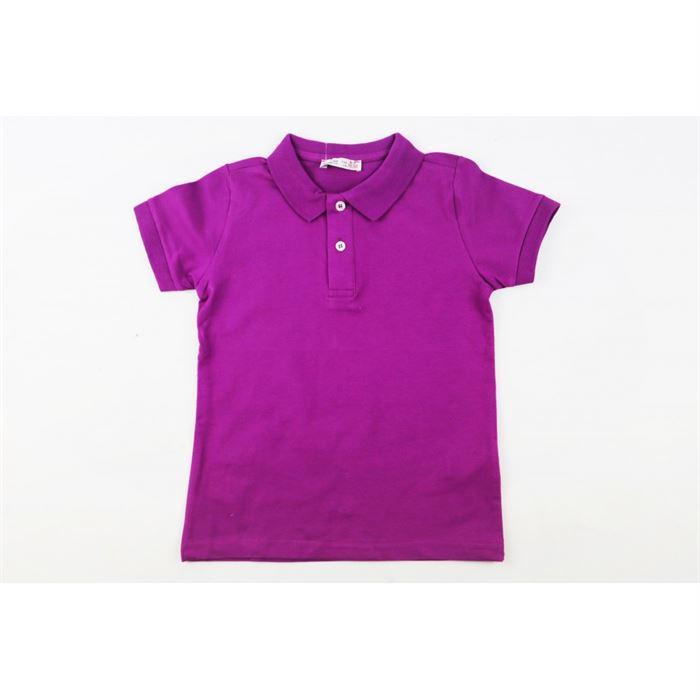 Bluzka polo chłopięca w fioletowym kolorze