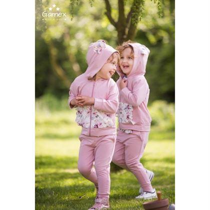 Dresik Gamex dziewczęcy z różyczkami, uszkami i opaską