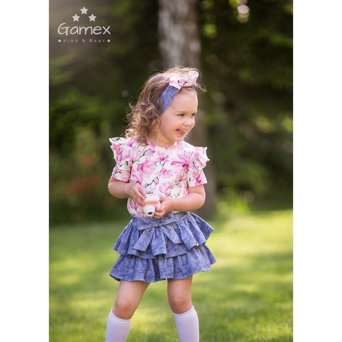Komplet dla dziewczynki Gamex- bluzka i spódniczka MAGNOLIA