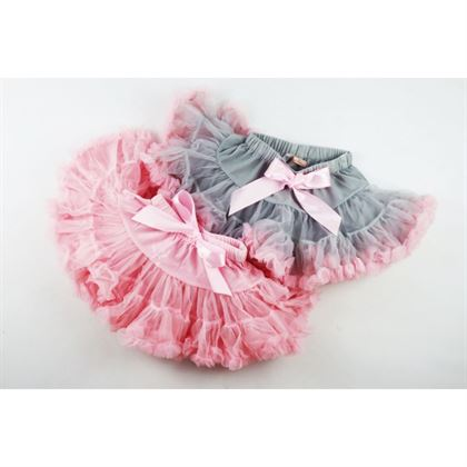 Spódniczka tiulowa dziewczęca z falbankami- 2 kolory do wyboru