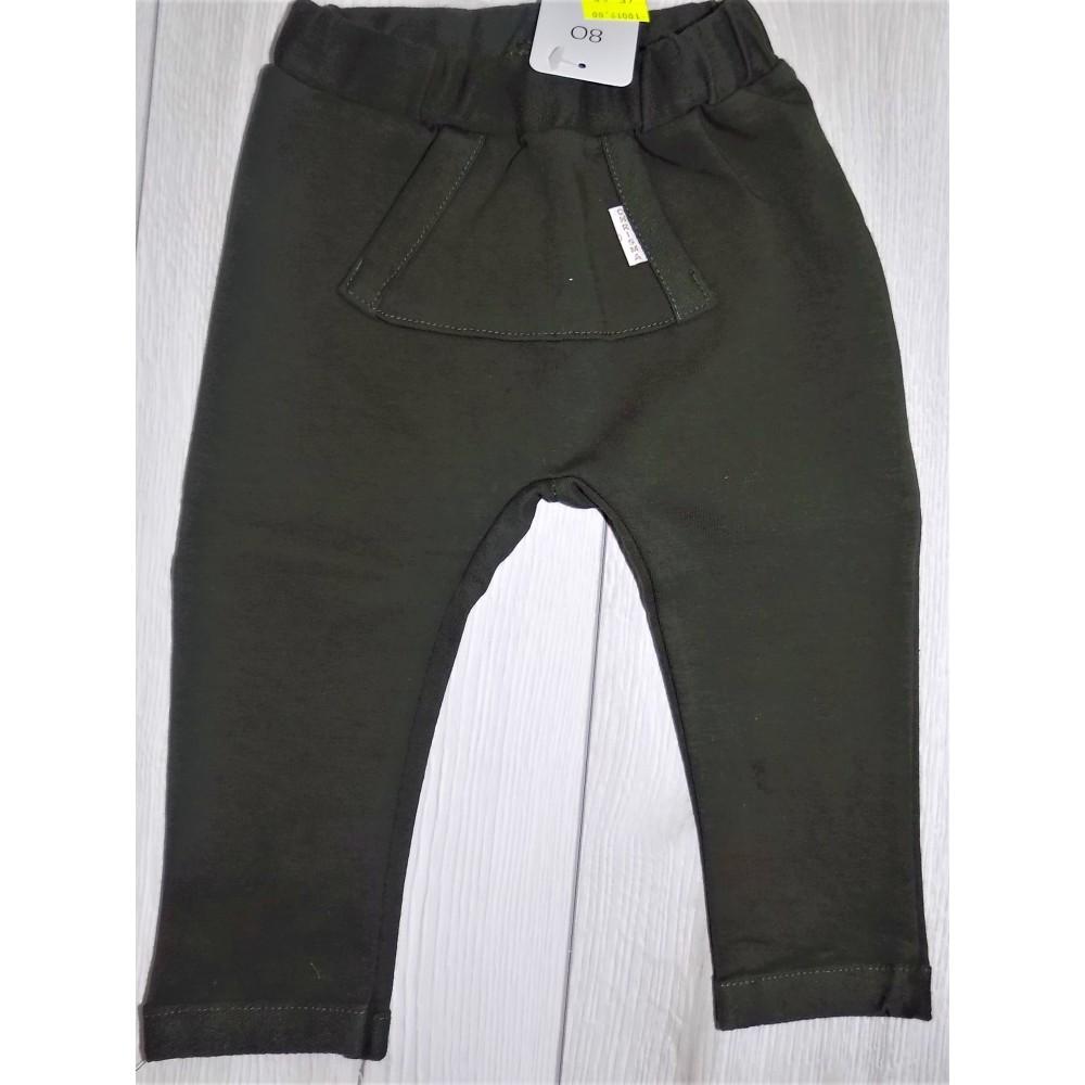 Khaki spodnie z kieszenią