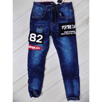 """Jeansy z naszywkami """"82"""" 1"""