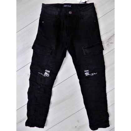 Czarne jeansy ze ściągaczami