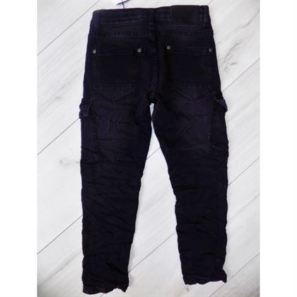 Czarne jeansy ze ściągaczami 1